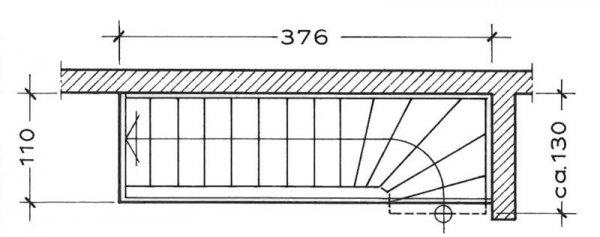 Treppenhaus grundriss maße  Grundrisse - Treppen im Trend